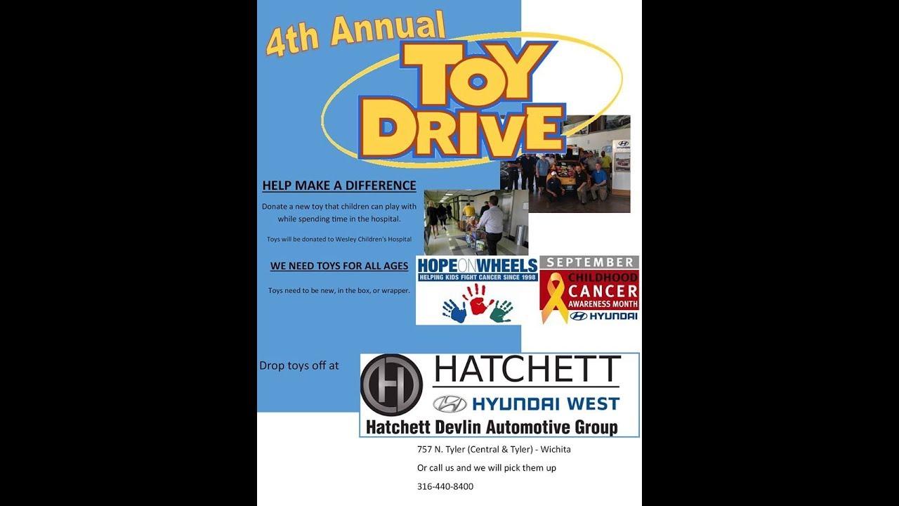 Hatchett Hyundai West >> Bill Stout At Hatchett Hyundai West Wichita Kansas 2017 Toy Drive For Kids