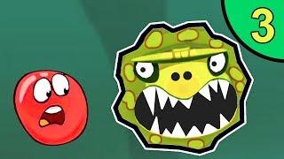 Несносный КРАСНЫЙ ШАР против монстров #3. Зелёные джунгли 3. Босс. ИГРА Red Ball на Игрули TV