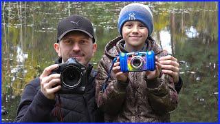 Детская Цифровая Фотокамера Kidizoom Duo от VTECH. Даник и папа фотографируют пейзаж