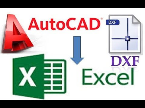 AutoCad or DXF file to Excel Sheet