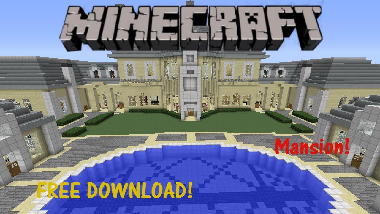 Minecraft Mansion MAP DOWNLOAD YouTube - Maps fur minecraft runterladen