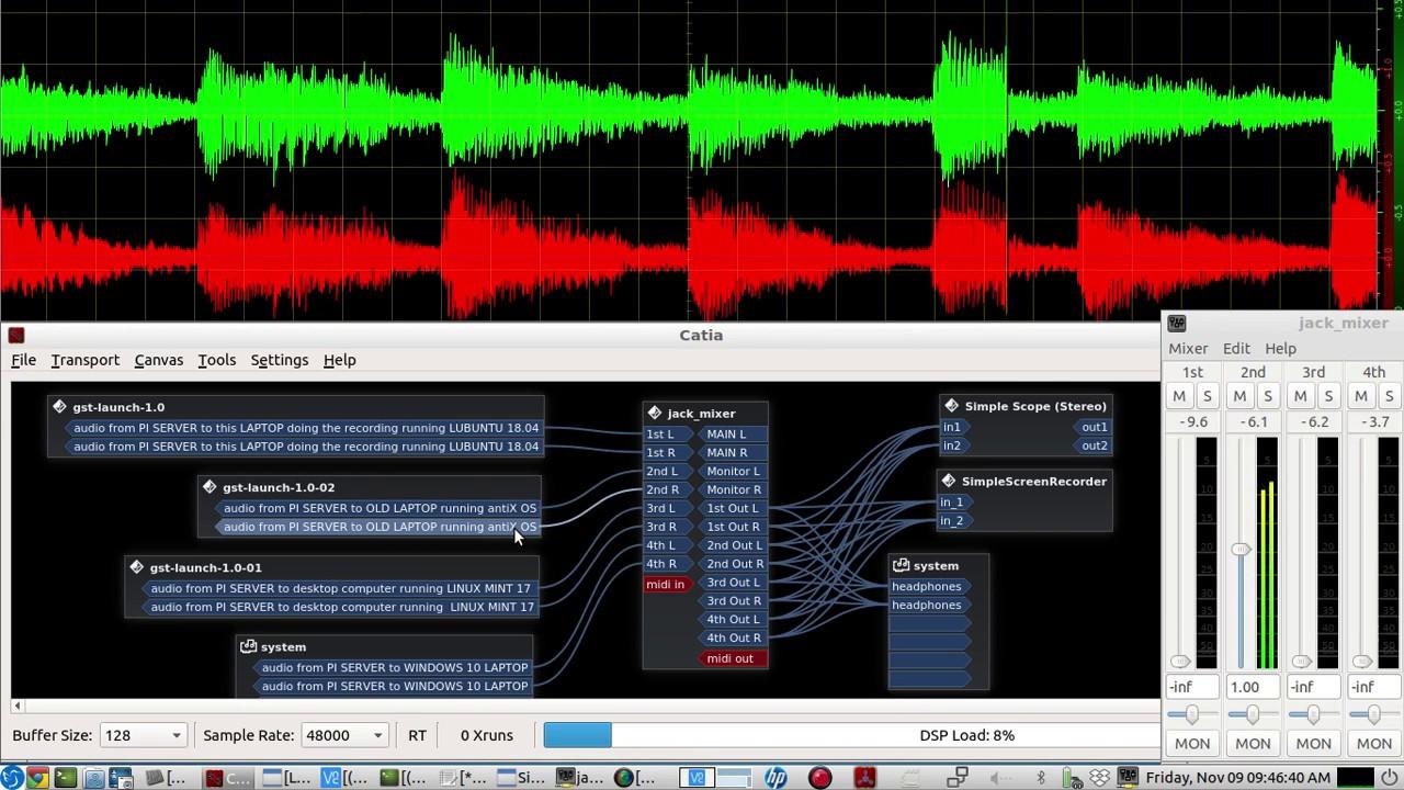 Raspberry PI whole house TCP audio over ip SERVER - using Gstreamer - Live  DEMO