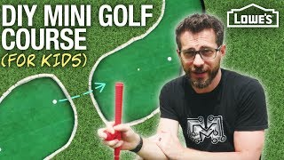 How to Build a Kid's Mini Golf Course (w/ I Like To Make Stuff)