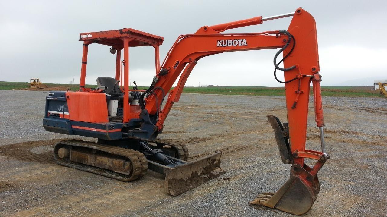 1995 kubota kx101 mini excavator youtube rh youtube com Kubota KX040-4 Kubota KX040-4