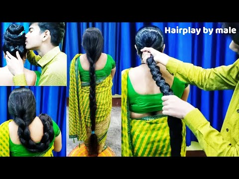 Hairplay By youngman #pulling #smelling #sniffing #oiling #slick #combing To buy Wtsap+91 9154004797