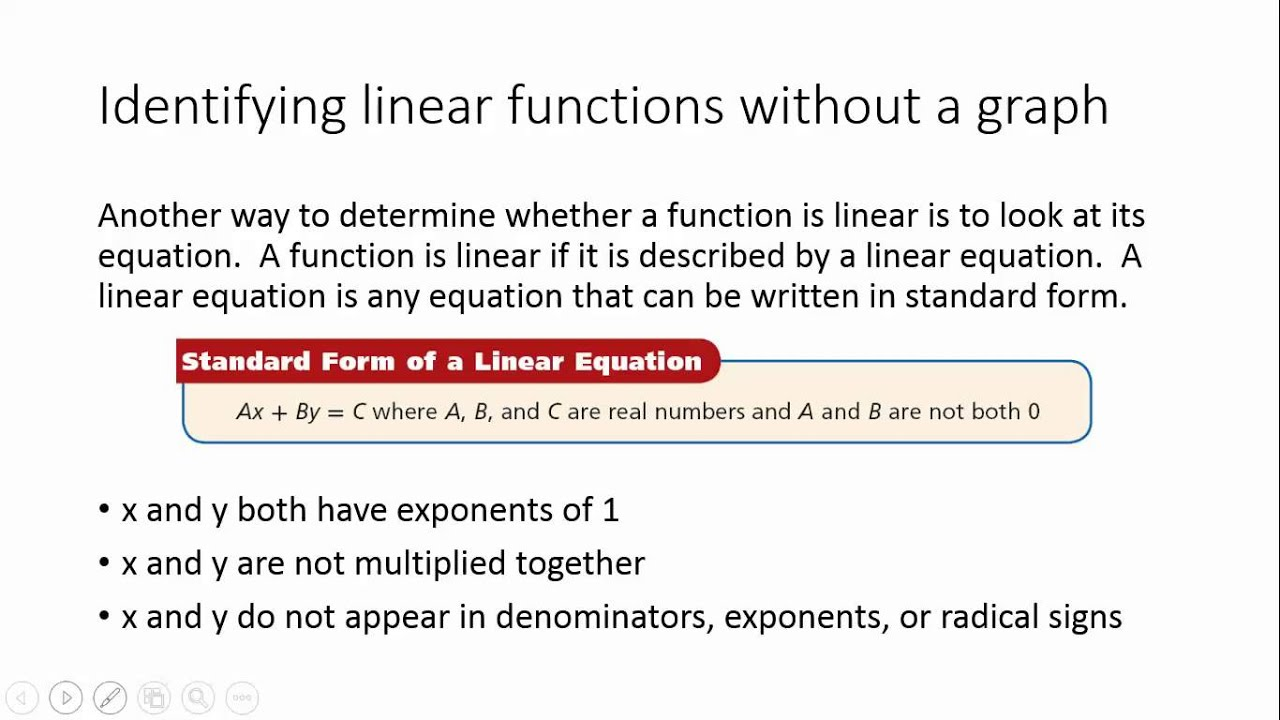 5 1 identifying linear functions youtube 5 1 identifying linear functions falaconquin