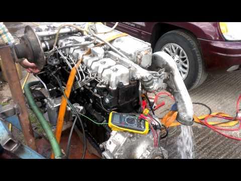 VM marine diesel running
