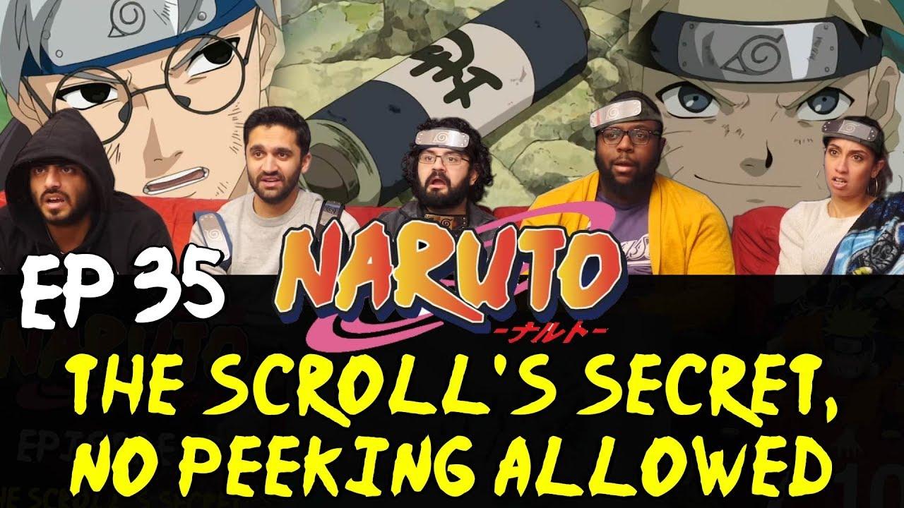 Naruto - Episode 35 The Scroll's Secret, No Peeking Allowed - Group Reaction