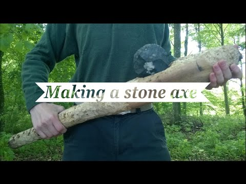 Making a Primitive Stone Axe (Flint Axe)