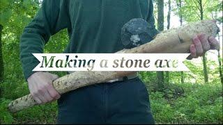 Die Herstellung einer Primitiven Steinaxt (Flint Axe)