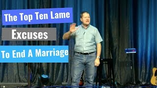 Dr. David Clarke on The Top Ten Lame Excuses to End a Marriage