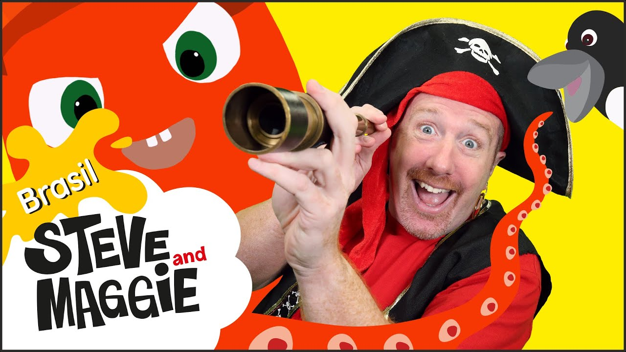 Música Pirata de Halloween com história de Animais Marinhos de Steve and Maggie Brasil