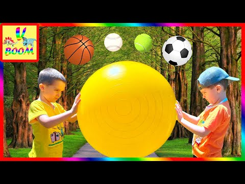 Подвижные ИГРЫ С МЯЧОМ для детей на улице! Бой Мячами!