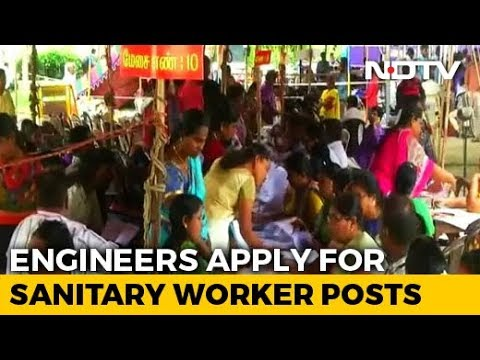 Image result for 7,000 engineers, graduates apply for 549 sanitary worker posts engineers 7,000 engineers, graduates apply for 549 sanitary worker posts hqdefault