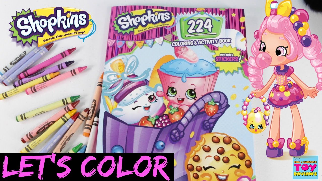 Where to buy shopkins coloring book - Shopkins Crayola Coloring Book Speed Color Bendon Arts Crafts Pstoyreviews Youtube