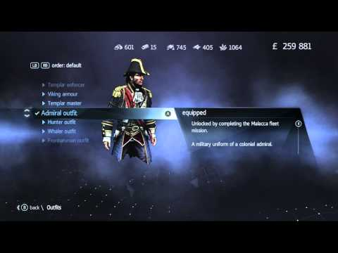 Assassin's Creed: Rogue - Admiral Outfit | Malacca Fleet Mission [HD]