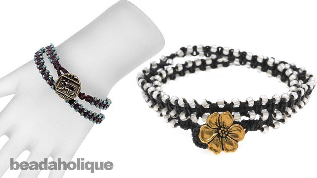Instructions for Making the Beaded Macrame Wrap Bracelet Kit ...