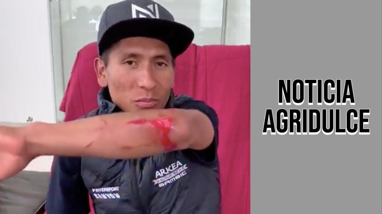 🚨 Nairo Quintana deberá reposar durante dos semanas tras su accidente