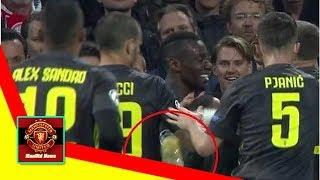 ManUtd News - Plastic cup thrown at Ronaldo as he celebrates putting Juventus ahead at Ajax