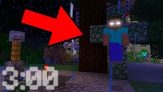 Can You Find Herobrine's Mansion in Minecraft Pocket Edition at 3 AM!?