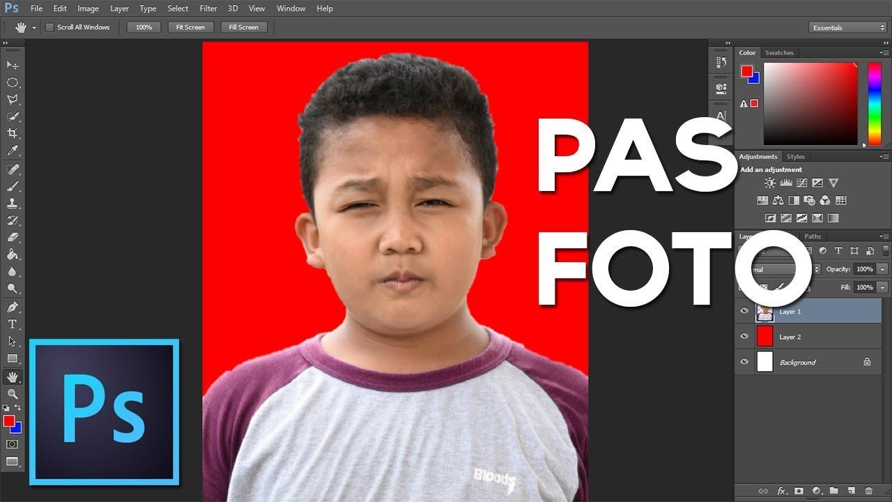 Cara Mudah Membuat Pas Foto Di Photoshop - Tutorial ...