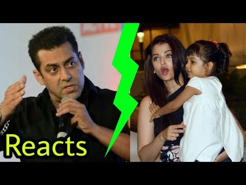 Salman Khan first time reacts on ex Aishwarya Rai Bachchan's daughter Aradhya Bachchan | Shocking!