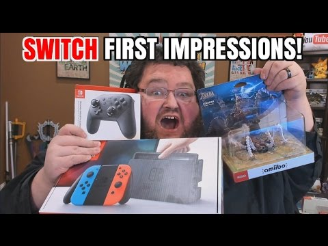 NINTENDO SWITCH FIRST IMPRESSIONS AND UNBOXING REVIEW!