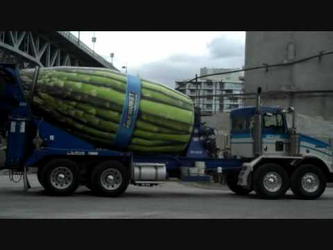 Concrete Mixer Truck >> Guinness World Record: Worlds biggest Asparagus....... Cement Mixer? - YouTube