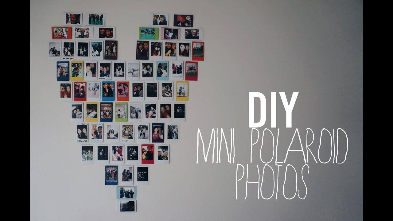 Diy Mini Polaroid Pictures Heart Youtube