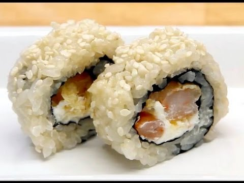 How To Make Sushi - Shrimp Tempura Cream Cheese Rolls