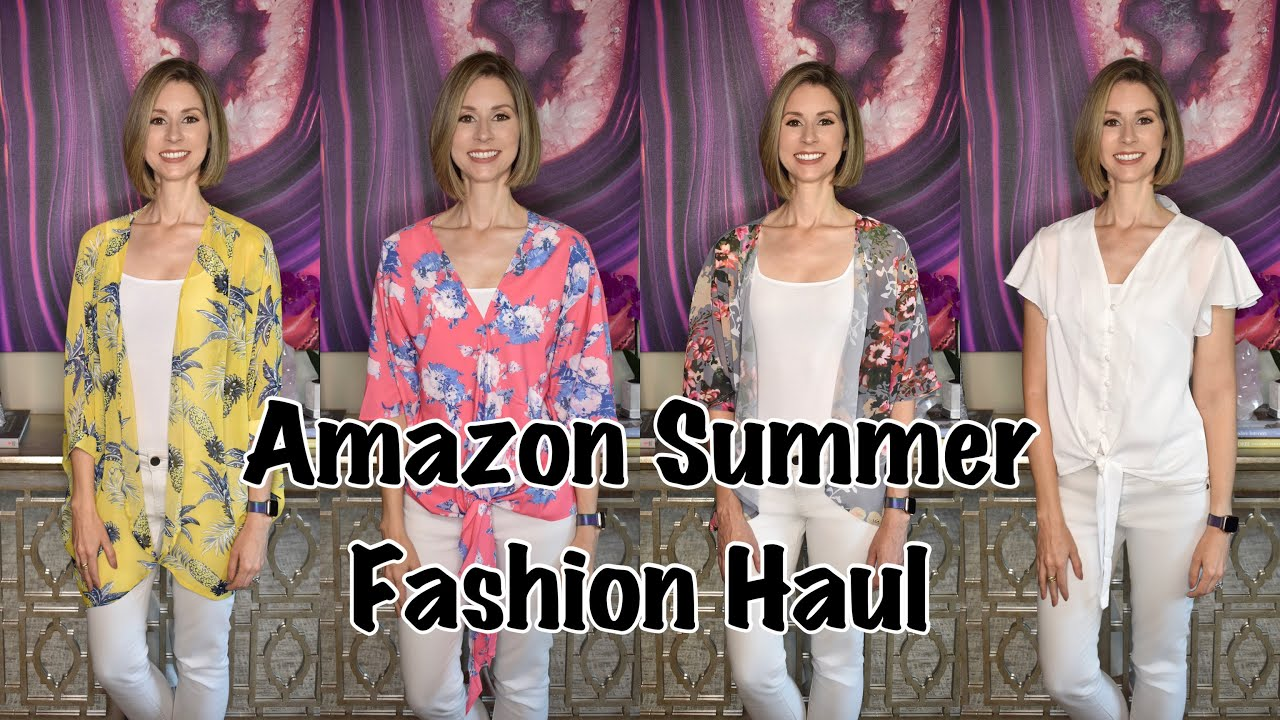 YOUTUBE MADE ME DO IT | Amazon Summer Casual Fashion Haul & Try On