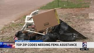 Top ZIP codes needing FEMA assistance