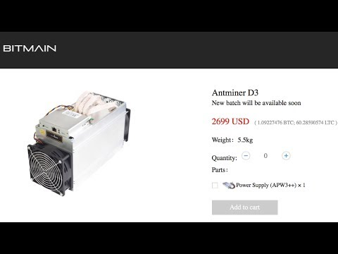 BITMAIN ANTMINER D3 15GH/s DASH X11 ASIC MINER - CRAZY POWERFUL