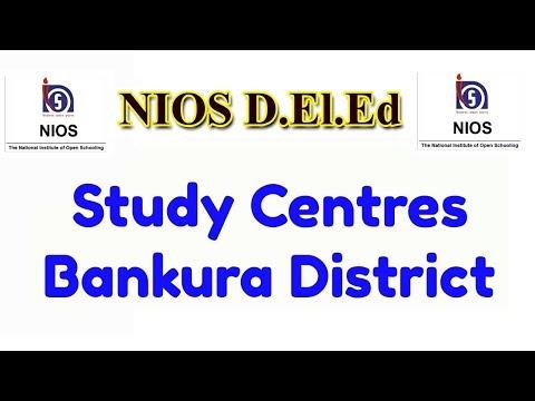432. Study Centres of Bankura District, NIOS D.El.Ed