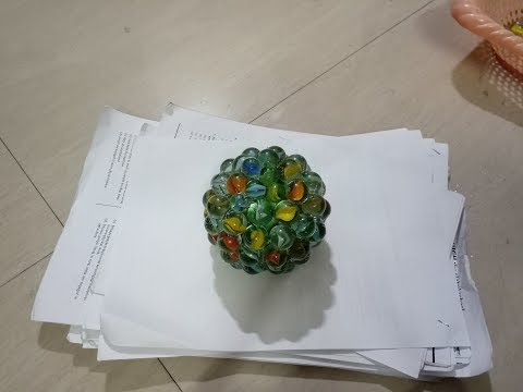 DIY: How to make paper weight using marbles - best out of waste craft