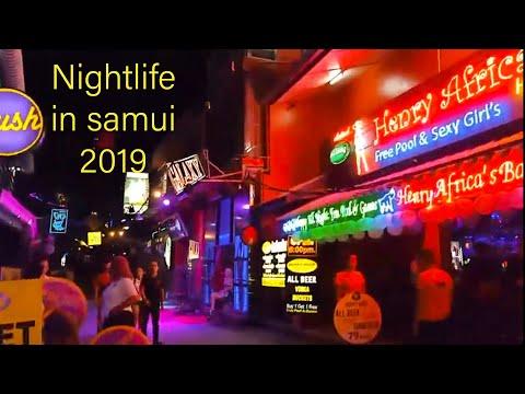 Nightlife in koh samui 2019. Chaweng beach หาดเฉวงยามค่ำคืน เกาะสมุย