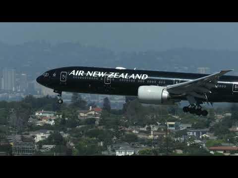 Air New Zealand Boeing 777-300ER (All Blacks) Arriving At LAX [HD] - September 23, 2018