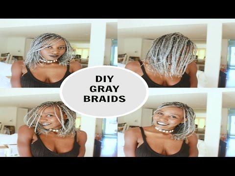 diy-grey/silver-bob-braids