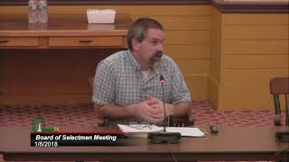 Board of Selectmen 1/8/18