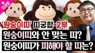 [관상]♥'원숭이띠'와 너무 안 맞는, 피해야 할 띠궁합은?♥원숭이띠 띠궁합-2부♥#사회궁합 …