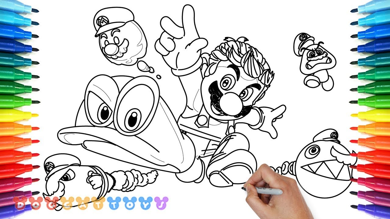 How To Draw Mario Odyssey 23 Drawing Coloring Pages For Kids Youtube