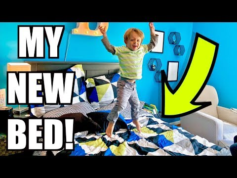 New Toddler Bed Reveal and Reaction!