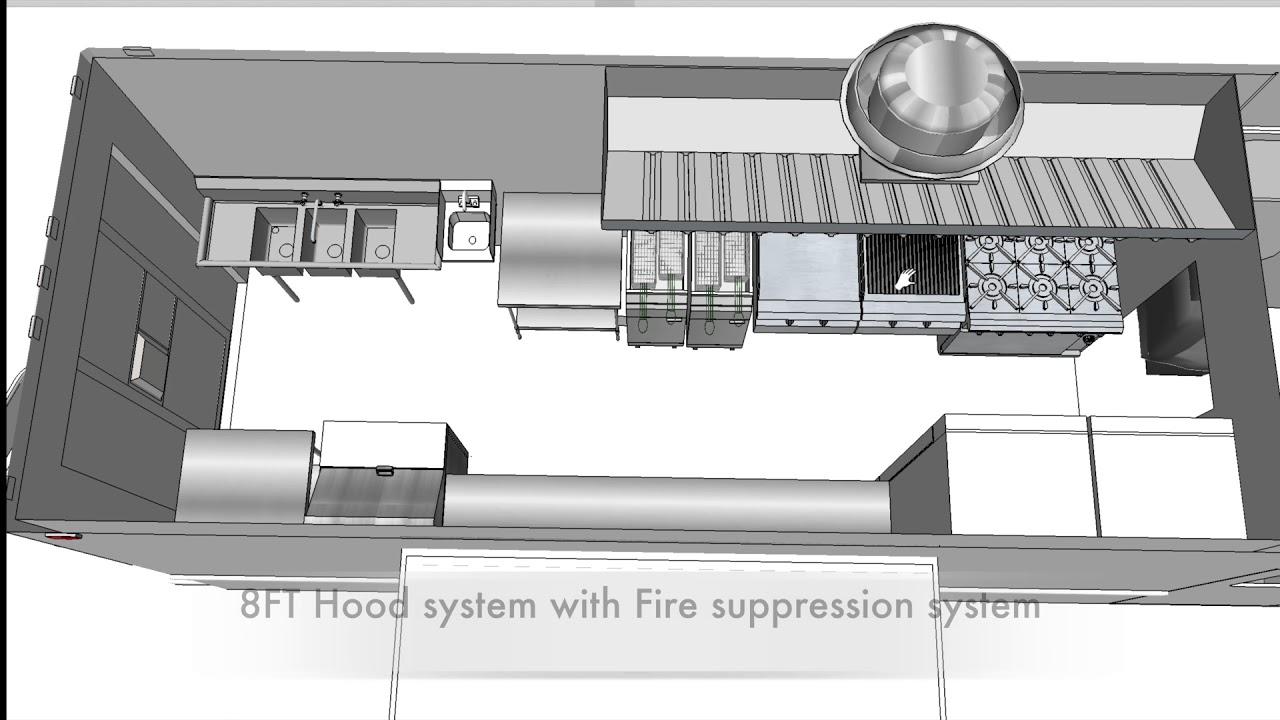 Food Truck Layout 3d  menu template design