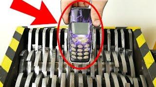 TRITURANDO celulares  NOKIA - EL SHOW DE LA TRITURADORA   / EXPERIMENTAR EN CASA