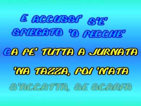 Domenico Modugno   Karaoke   'o 'ccafe'   Testo + Voce Genny Day