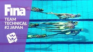 Watch the full performance of team Japan at the FINA Synchronised S...
