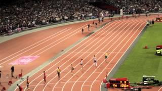 Men's 4x100m Relay Final London 2012 - Usain Bolt, Yohan Blake, World Record (HD)