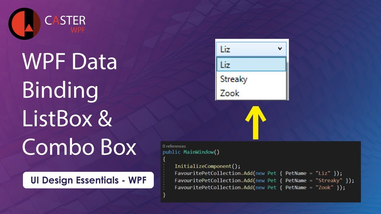How to Bind Combo Box and List Box in WPF C#