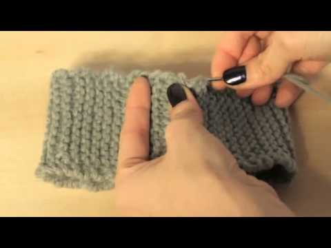 Knitting  How to Seam Ends Together to Join Cast On and Bind Off Edges - YouTube