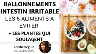 INTESTIN IRRITABLE / COLOPATHIE - LES 5  PIRES ALIMENTS  | Coralie Beguin Naturopathe